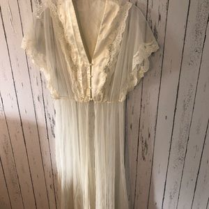 Vintage nightie cape
